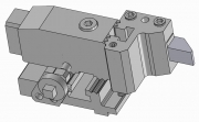 Turret and Modular Part-Off Tool Holder for Square Tool Bit